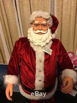 Gemmy 5 Animated Life Size SANTA CLAUS SINGING Christmas Songs