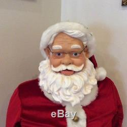 Gemmy Animated 50 Santa Claus Selling For Parts Or Repair Only