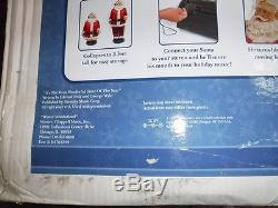 Gemmy Animated Singing Dancing SANTA CLAUS 5' Life Size With Microphone and all