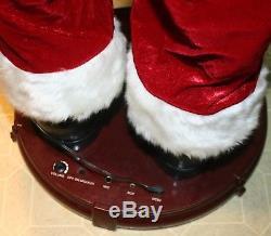 Gemmy Christmas 4' Animated Dancing Singing Santa Claus