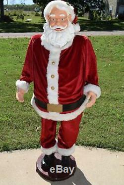 Gemmy Christmas Life-Size 5ft Animated Singing Santa Claus
