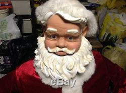 Gemmy Life Size 50 Tall Animated Singing SANTA CLAUS Christmas (Pickup Only!)