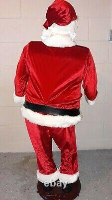 Gemmy Life Size Animated Santa Singing Dancing Talking 5' Tall Christmas Prop