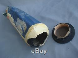 German Paper Mache Candy Container. Santa Claus In Blue