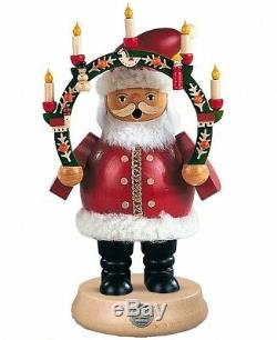 German incense smoker Santa Claus under candlearch, height 19 cm. MU 16131 NEW