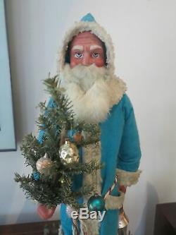 German store display large papier mache Santa Claus 1930