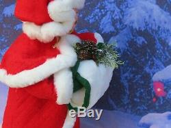 Giant 30 Annalee Classic Mrs Santa Claus Doll with Hand Warmer/Muff 620904 NEW
