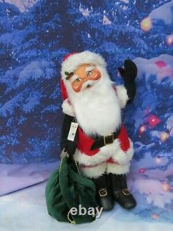 Giant 30 Annalee Classic Santa Claus Doll with Toy Bag On Stand #621002