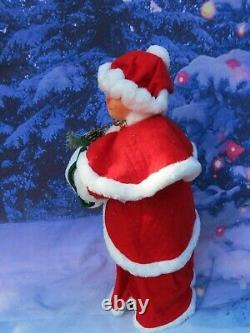 Giant 30 Annalee Santa Claus Doll With Pine Bough & Bird 621004 NEW With Tag