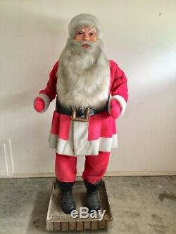 Giant 6 1/2 Foot Tall Santa Claus Made By Harold Gale Displays