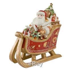 Goebel Santa Claus with Sledge, Christmas, Figure, Porcelain, 35 cm, 51000291
