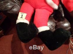 HUGE PARISI Santa Claus 52 LONG Christmas Figure Plush 1950s Plastic face #1