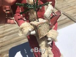 HUGE! Vintage Debbee Thibault Santa Claus Christmas 1994 Figure belsnickle type