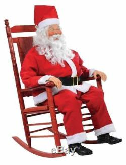 Halloween LifeSize Animated Rocking Chair Christmas SANTA CLAUS Holiday Prop NEW