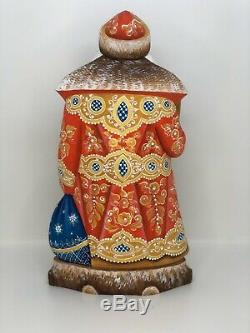 Hand Carved And painted Santa Claus 27cm 10,62NATIVITY
