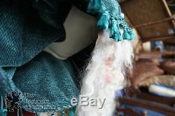Handmade Life Size Santa Claus Christmas Statue Bavarian Art Wax Face Vtg German
