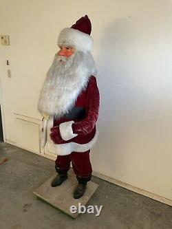 Harold Gale 5 1/2 Foot Animated Mechanical Christmas Store Display Santa Claus