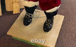 Harold Gale 6 Foot Tall Animated Mechanical Christmas Store Display Santa Claus