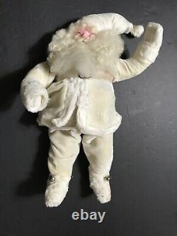 Harold Gale Santa Claus 1950's Rare White Velvet Suit 15 Store Display Clause