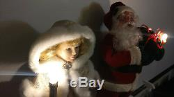 Holiday Creations Santa Claus / Telco Motion-ette Angel Animated Figures Candle