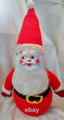 Huge 36 Mid Century Santa Claus Xmas Figure 3'Mask Rare 1950s Toy VTG (ceramic)