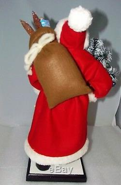 Ino Schaller Santa Claus Paper Mache Germany Candy Figurine NEW NWT 17