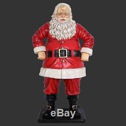 Jolly Santa Claus Father Christmas Statue Figure St Nicholas Indoor Outdoor Prop