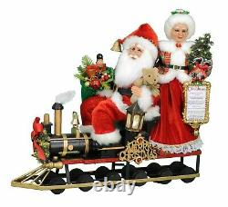 Karen Didion Originals The Lighted Mr And Mrs Claus Train Sc-49
