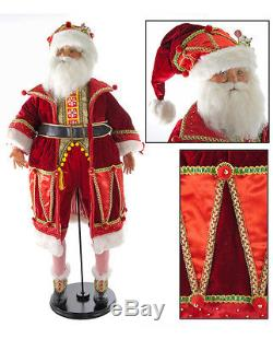 Katherine's Collection 32 Noel Santa Claus Christmas Doll With Little Mouse NEW