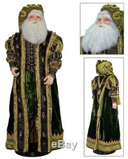 Katherine's Collection 32 Tapestry Santa Claus Doll Renascence Christmas Figure