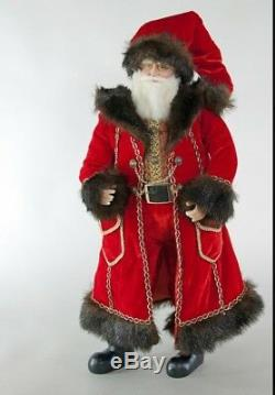 Katherine's Collection Holiday Cheer 18 Santa Claus Doll 28-828215 NEW