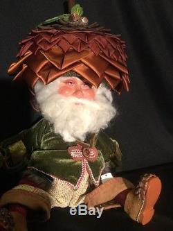 Katherine's Collection Quercus 22 Fizzlewinks Woodland Santa Claus Gnome NEW
