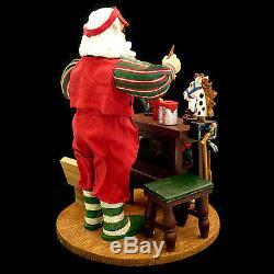 Kirkland Signature Fabric Mache Santa Claus Figure / Santa's Workshop / #212206