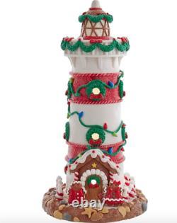 Kurt Adler Christmas Gingerbread Lighthouse LED Liteup New 2021 GBJ0020 Beach