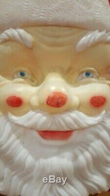 LARGE Vintage Empire 36 Blow Mold Santa Claus Face