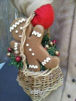 Large 24 Handmade Santa Claus by House of Hatten & Artist Dee Gann