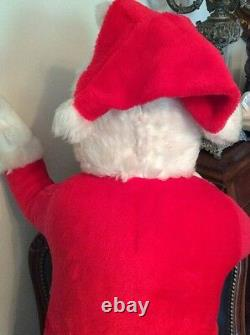 Large 34 Vintage Rubber Face Santa Claus Doll By Superior Toy & Novelty Co