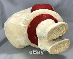 Large SANTA CLAUS Christmas CANDY CONTAINER Pressed Paper Pulp VINTAGE 9-inch