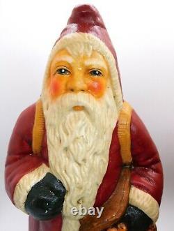 Large Vaillancourt Folk Art Santa Father Christmas 1987 Figure Gorham 11 1/2