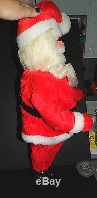Large Vintage 29 Santa Claus Figure Store Display Black Boots