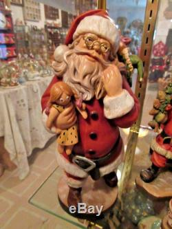 Lepi SANTA CLAUS Hand Carved Hand Painted Italy 10.5 KH
