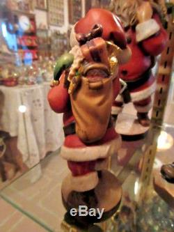 Lepi SANTA CLAUS Hand Carved Hand Painted Italy 6.75 KH