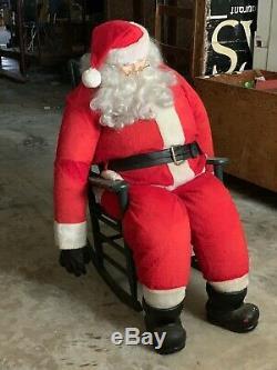 Life Size Rocking Santa Claus Christmas Figure Prop