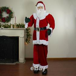 Life-Size Santa Claus 6 Plush Standing or Sitting Commercial Decoration Figure