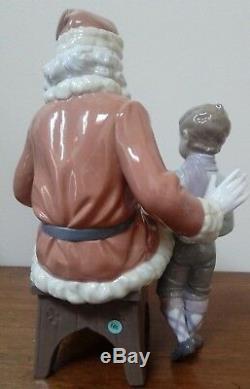 Lladro A SPECIAL TOY Santa Claus & Boy Saint Nicholas 5971 Retailed @ $950