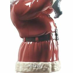Lladró Merry Christmas Santa! Figurine Porcelain Santa with Child Figure 1009254