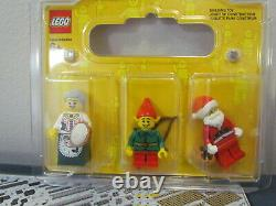 Lot LEGO 10263 Winter Village Fire Station with Mini Figures Santa Elf Mrs. Claus