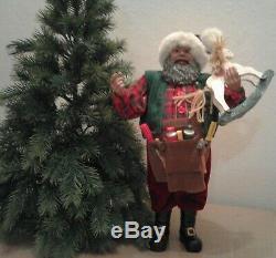 Lot Of 4 Vintage Treasured Santa-Santa Claus Figures 2 NWT 16 17 Tall Decor