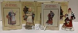 Lot of 14 International Santa Clause Collection Figures Figurines