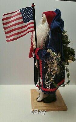 Lynn Haney Santa Claus 2002 YANKEE DOODLE SANTA BEAUTIFUL STATUE STYLE #1662